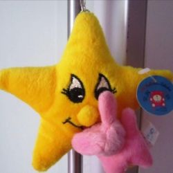 Soft toy key chain Star and Bunny