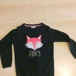 Sweater for girls with fox p.146