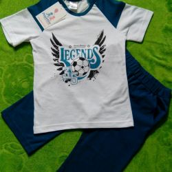 -T-shirt + breeches. New for 4-5 years