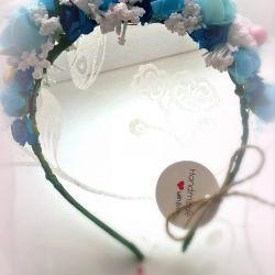 el yapımı çiçek kafa bandı