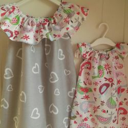 A set of dresses for sisters