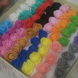 Roses from foamiran. 22 colors available.