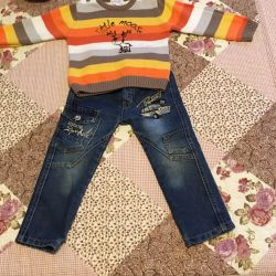 92 cm blugi și pulover