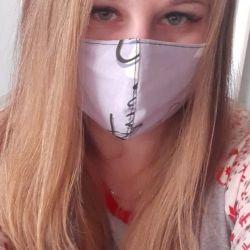 Yeniden kullanılabilir tıbbi maske mor