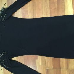 Black bonded mini dress