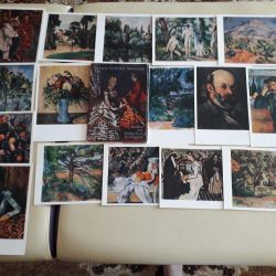 A set of postcards paintings by P. Cezanne in the Museum of Picture
