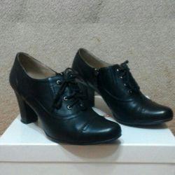 Μπότες δέρματος αστράγαλο μέγεθος 38