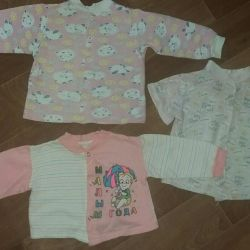 Children's blouses on a tale 3 pcs. Price for everything