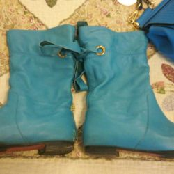 Boots demi-season turquoise
