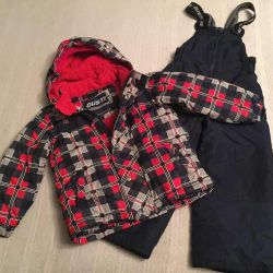 Winter suit d / m jacket and overalls, r.112 (+6)