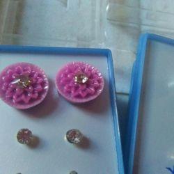 Сережки гвоздики квіточку