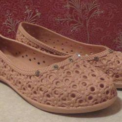 Ballet shoes, rubber