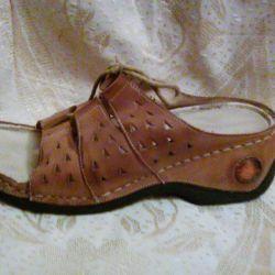 rahat ayakkabılar - iyi bir deri yerine geçen bir sabot