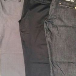 Branded trousers, jeans