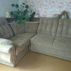 Upholstered furniture (sofa and 2 armchairs), excellent condition