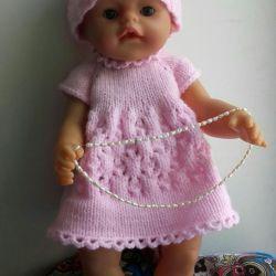 Красивое вязаное платье для беби бон