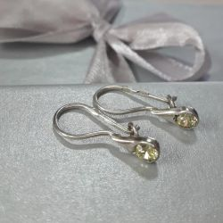 Earrings are made of 925 silver. Weight 0,94 gr
