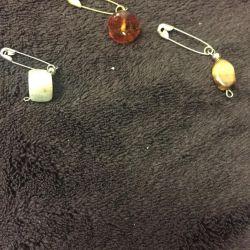 Καρφίτσες από φυσική πέτρα