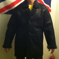 Men's sheepskin coat natural