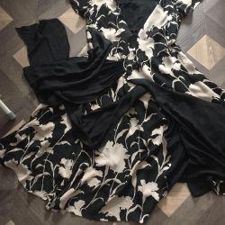 Φόρεμα μετάξι με μυρωδιά p46-48