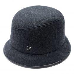 Панама шляпа мужская LF шерстяная (т.серый)