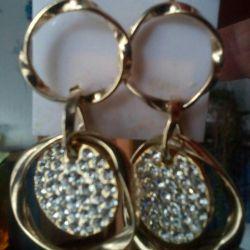 New earrings. Stones of Swarovski.