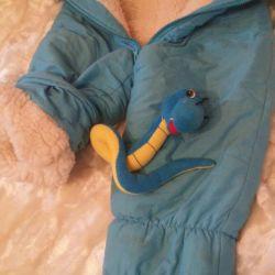 Kombez-Pants winter children's + a toy as a gift