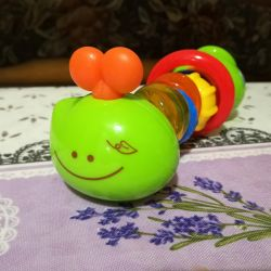 Educational toy caterpillar. Bkids Rattle Series