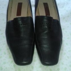 Leather shoes.