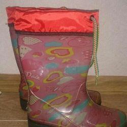 Новые резиновые сапоги на девочку 28 р- р