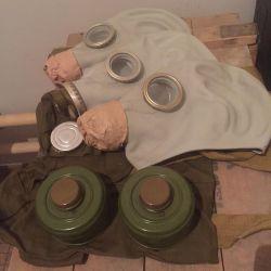 Gas masks, new, full set!