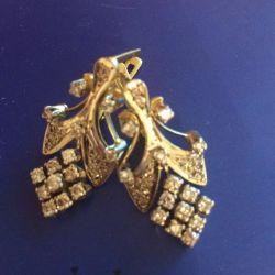 Earrings gold 750 pr with diamonds