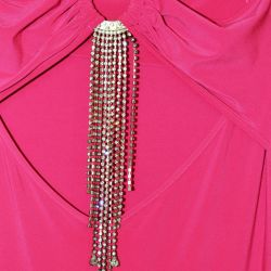 XS-S kristalleri ile yeni gece elbisesi