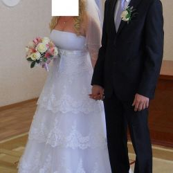 Wedding dress after dry cleaning