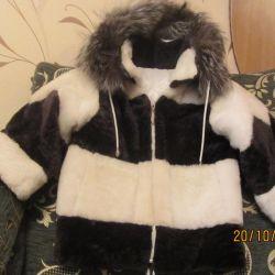 Mouton kürk ceket 3-5 yıl