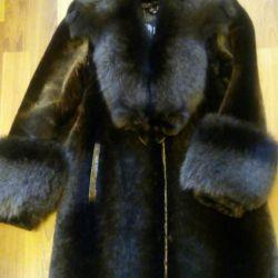 Natural fur coat