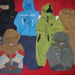 Jacket, jeans, windbreaker, jeans, pants 86-92cm