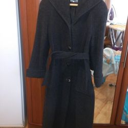 New wool coat with a hood