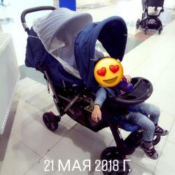 Stroller for twins or pogodka