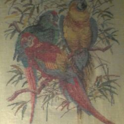Embroidered picture, cross