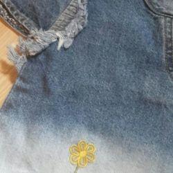 Детская джинсовая кофточка