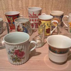 Ceramic and glass mugs 250ml and 350ml