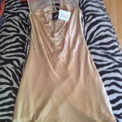 Φόρεμα χρυσό χρώμα, καινούριο