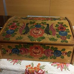 Bread box painting Gorodets