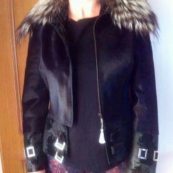 Jacket Pony + silver fox. Bargain.
