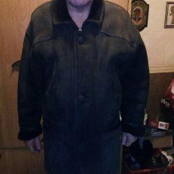 Erkekler için koyun derisi ceket !! Doğal !!