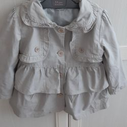 Trench Coat with Hood for Girl
