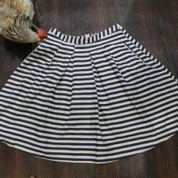 Flared skirt. R.46. Striped.