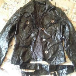Leather. Jacket-jacket