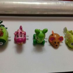 children's toys on the winding mechanism